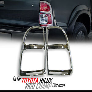 CHROME COVER REAR TAIL LIGHT LAMP GUARD TRIM TOYOTA HILUX VIGO CHAMP MK7 11-2014