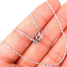 Unisex 925 Sterling Silver Fashion 17 inch 1.5mm wide Wave Chain Necklace H1070