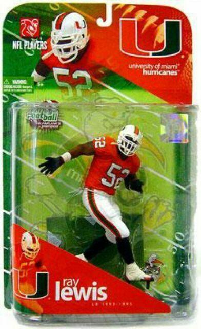 McFarlane Toys NCAA College Football Sports Picks Series 1 Action Figure Ray Lewis Miami Hurricanes