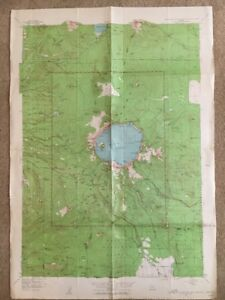 Crater Lake Topographic Map.1956 Usgs Topographic Map Crater Lake National Park Oregon Ebay