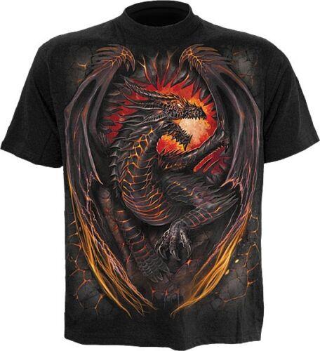 Spiral Dragon furnace Dragon t shirt tee top Feu Fire Gothique Dark #3221 246
