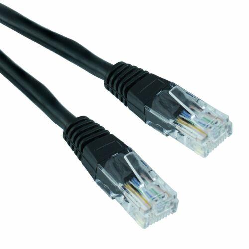 Black 50cm RJ45 Cat5e Ethernet Network LAN Patch Cable Lead