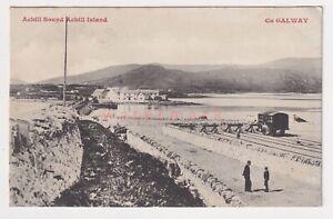 IRELAND Co Galway ACHILL ISLAND ACHILL SOUND RAILWAY STATION ? POSTCARD 1913