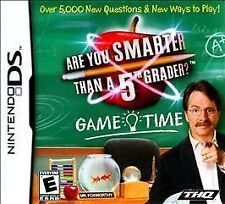 BRAND NEW Sealed Are You Smarter Than a 5th Grader Game Time (Nintendo DS, 2009)