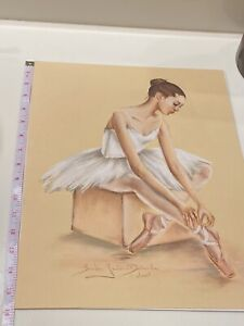 original art pastel drawing Signed By Artist LARGE!!!