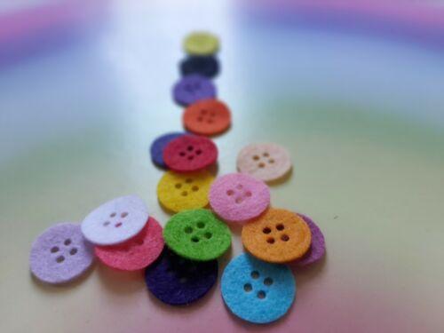 Botones de pequeñas de fieltro Adornos bastante Die Cut Craft 20