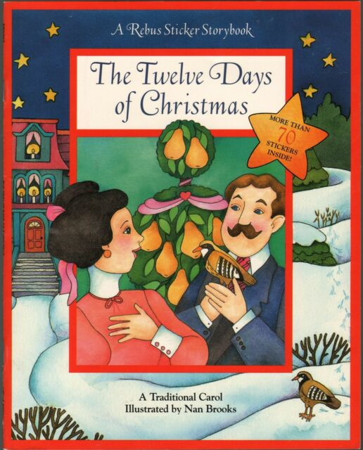 The Twelve Days of Christmas : A Rebus Sticker Storybook w/ 75 Stickers - NEW
