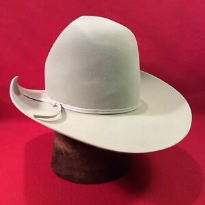 f5420bb38 Details about Silverbelly Resistol 5X Beaver Western Men's Hat with  Silverbelly Ribbon