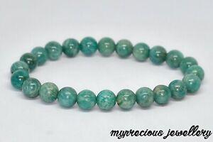 Green Amazonite  Natural Gemstone Bracelet Stone Healing Reiki Chakra UK