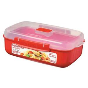 Sistema-Microwave-Rectangular-Container-Bowl-with-Klip-It-Clear-Lid-1-25L-Red