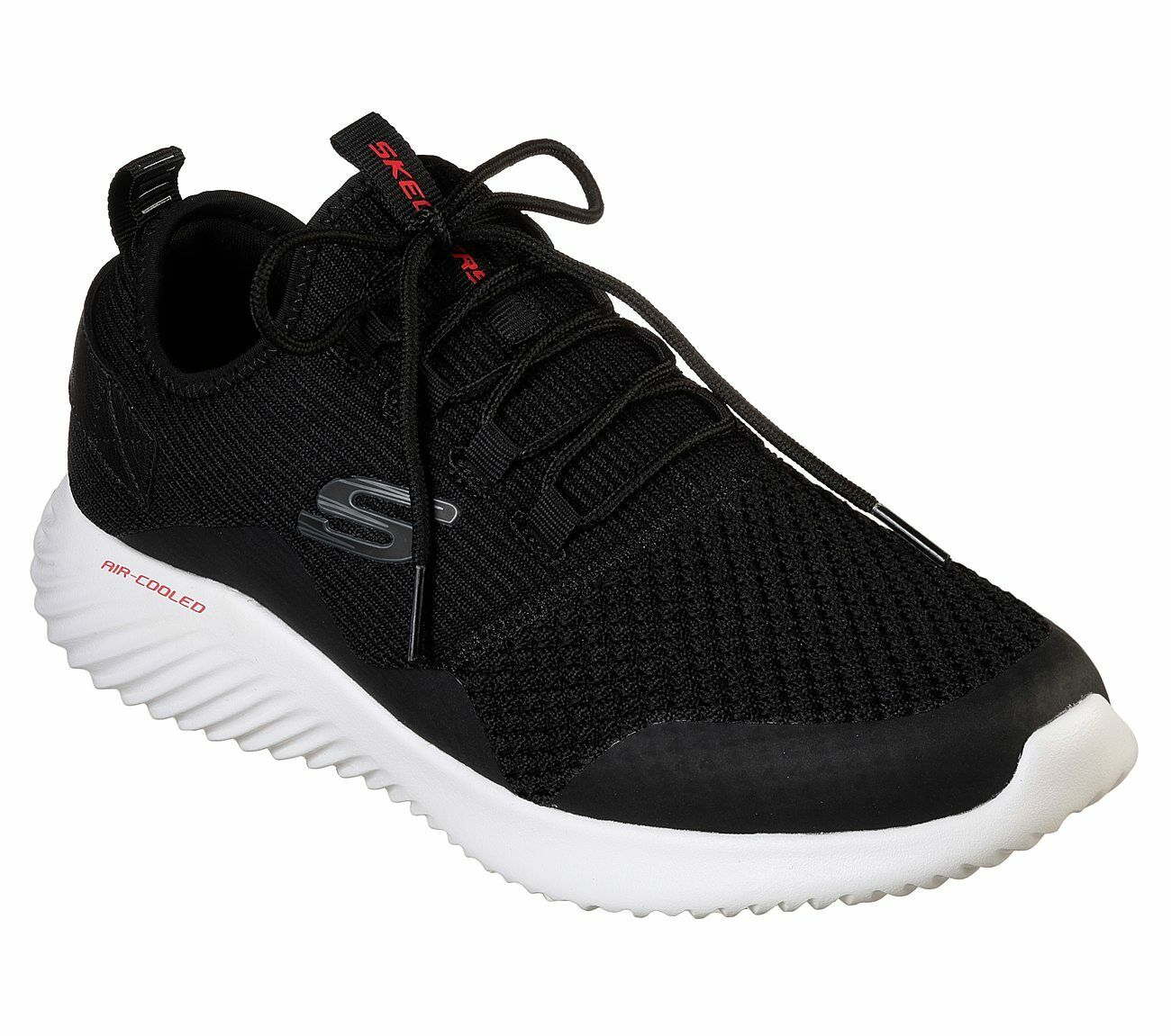 Skechers Black shoes Men Memory Foam Comfort Casual Sport Train Walk Mesh 52510