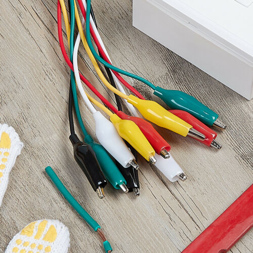 WGGE WG-026 10 Pieces and 5 Colors Test Lead Set /& Alligator Clips 20.5 inches