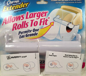 Charmin Toilet Paper Extender Adapter White Free Tp Over