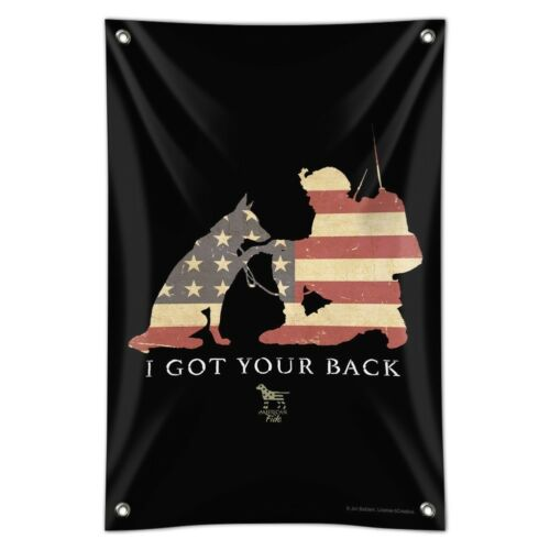 Got Your Back Soldier Shepherd Flag Home Business Office Sign