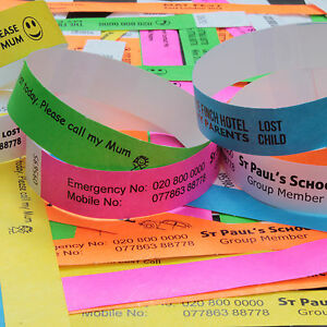 ID-WRISTBANDS-LOT-Personalised-for-School-Outings-Scouts-Brownies-Events