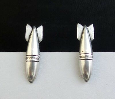 Wwii Sterling Silver Sweetheart Military Earrings