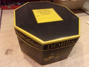 8348b51f36 Vintage Black Dobbs Fedora Men s Hat - Very nice - Sz 6 7 8 with hat ...