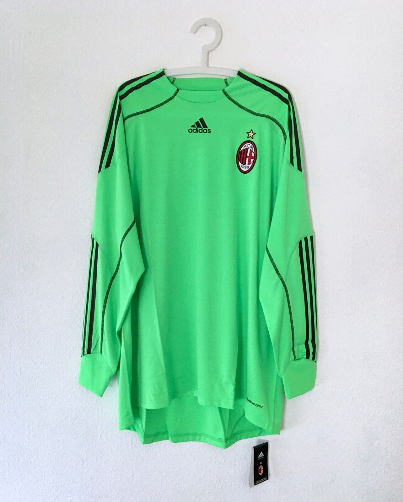 New AC MILAN 2009/10 Adidas Goalkeeper Football Shirt XL Vintage Soccer Jersey