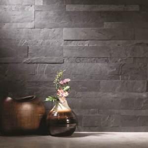 peel and stick tile self adhesive stone slate wall kitchen rh ebay com Grey Subway Tile Backsplash Rustic Industrial Kitchen