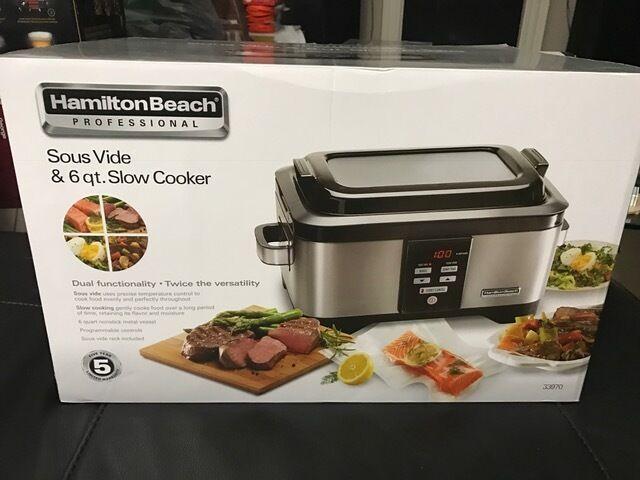 Hamilton Beach 33970 Sous Vide /& 6QT Slow Cooker New!!!