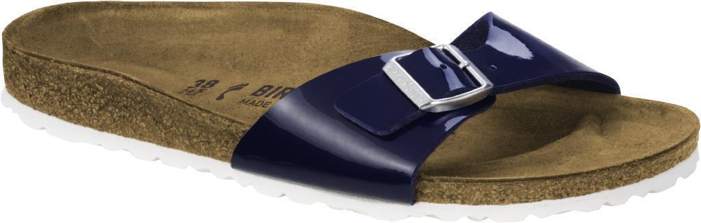 BIRKENSTOCK MADRID DRESS Blau PATENT LUCIDO CIABATTE Damens 35 36 37 38 39 40 41