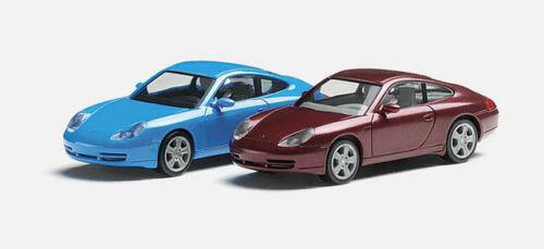 Auto in ROT metallic Lieferung Herpa H0 032681 Porsche 911 Carrera 4 996