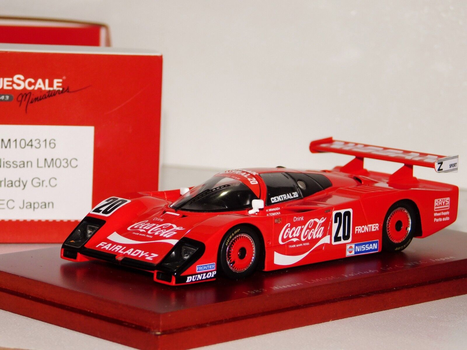 Nissan LM03C Fairlady GR.C Coca Cola Weg Japón TrueScale TSM104316 1 43