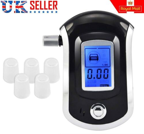 Electronic HandHeld Alcohol Detector Police Blow Tester Screen Breathalyser UK