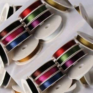 QUALITY-1-x-50-METER-ROLL-REEL-OF-0-45mm-TIGER-TAIL-JEWELLERY-BEADING-WIRE-W2