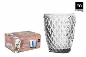 6-SIDARI-CLEAR-Vintage-tumblers-drinking-glasses-270ml-beautiful-gift-box