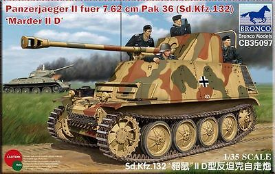 Bronco 1//35 35132 Armored Krupp Protze Kfz.69 w//3.7cm Pak 36 Late Version