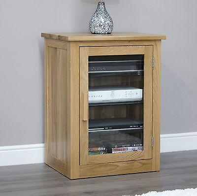 Arden solid oak hi-fi stereo storage cabinet modern living room furniture