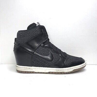 escaramuza Alicia Desgracia  Nike Dunk Sky Hi Essential Wedge Sneaker - Black Tweed - 644877-003 - Size  9   eBay
