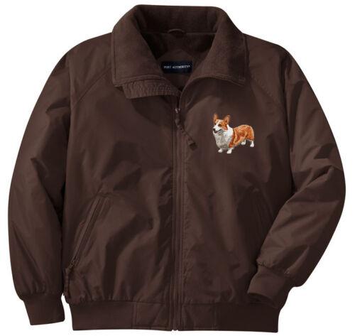 Left Chest Corgi Embroidered Jacket Sizes XS thru XL
