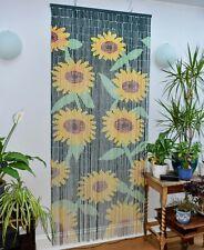 90 x 200 cm Sunflower Bamboo Door Curtain Wall Art Reversible
