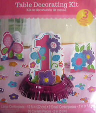 Item 1 Pink Or Blue 3 Piece Happy 1st Birthday Party Table Decoration Kit
