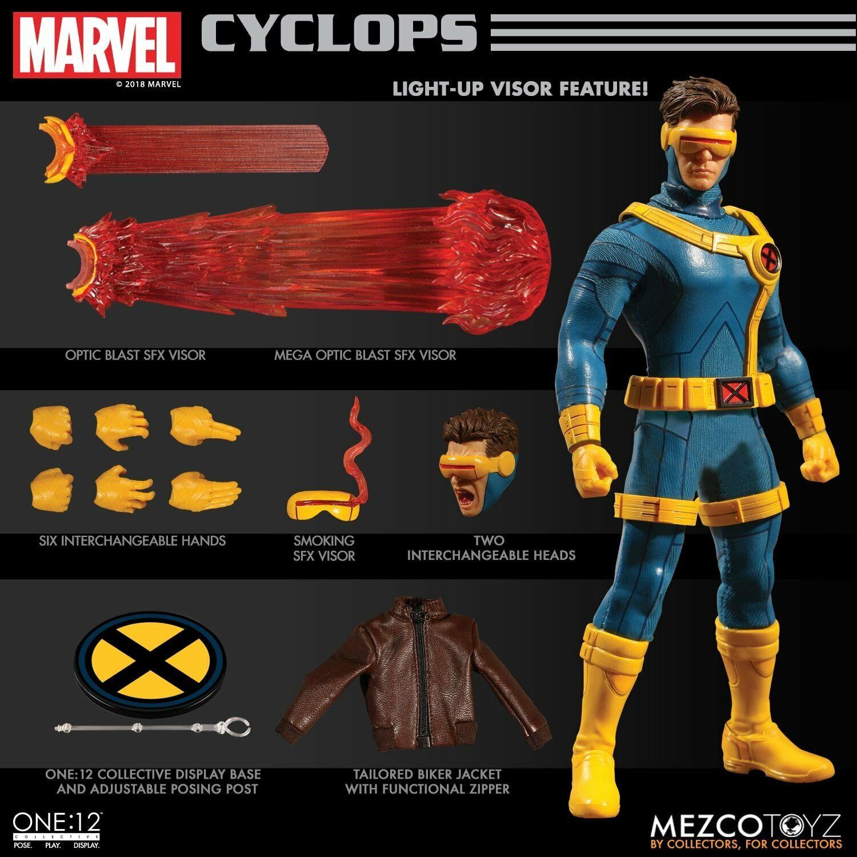 Mezco Juguetez uno  12 colectivo Marvel X-Men Cíclope figura de acción