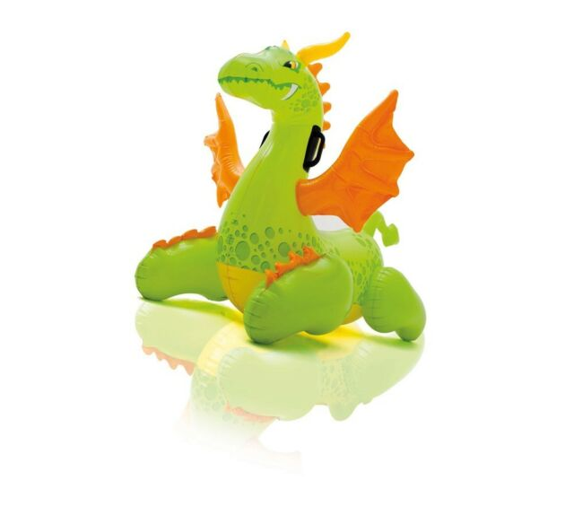 Intex Medieval Dragon Ride-On Inflatable Kids Swimming Pool Float Raft