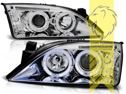 LED Angel Eyes Scheinwerfer für Ford Mondeo 3 Limousine Turnier chrom