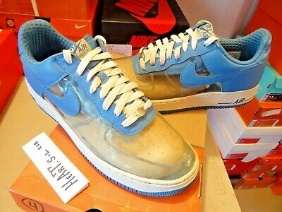 NIKE AIR FORCE 1 ONE PREMIUM CLEAR BLUE FANTASTIC 4 INVISIBLE 313641 941 SZ 13   eBay