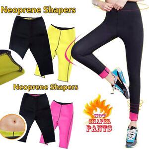 4765f9fd37a Hot Sweat Thermo Sauna Shaper Slimming Capri Long Pants Neoprene ...