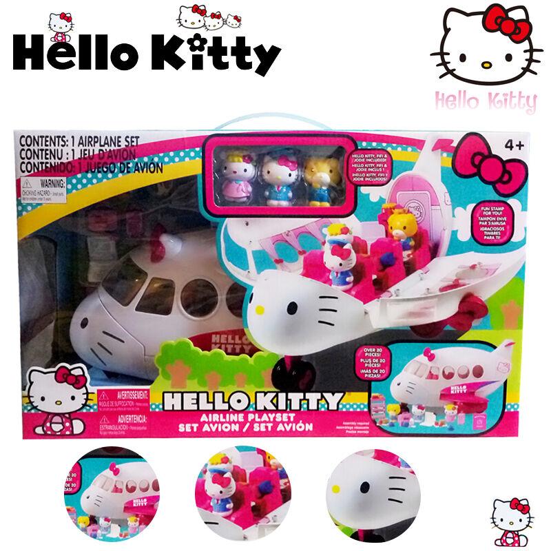 Sanrio Hello Kitty COMPAGNIA AEREA Action Figure Bambini Bambine Finta Playset Giocattolo