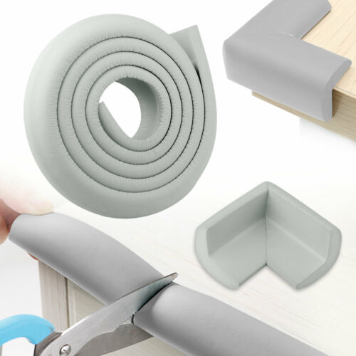 Thick Foam 2M Baby Proofing Edge Guard Foam Protector Bumpers 4 Corner Cushion