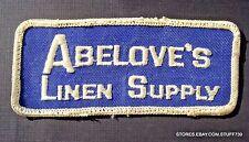 "ABELOVES LINEN SUPPLY SEW ON ONLY PATCH LAUNDRY MT LAUREL NJ UNIFORM 4 1/2"" x 2"""
