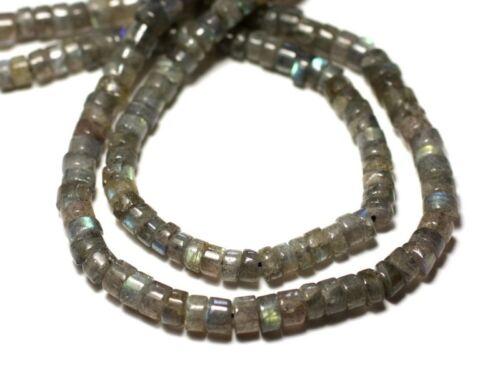 20pc Labradorite Rondelles Heishi 4-5mm 8741140012028 Perles de Pierre