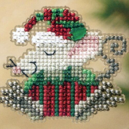 Kris Mouse Beaded Christmas Ornament Kit Mill Hill 2011 Winter Holiday