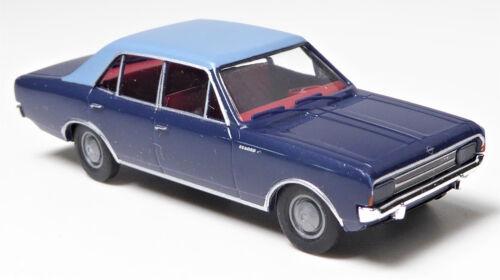 H0 BREKINA Personenkraftwagen Opel Rekord C Limousine zweifarbig blau # 20514