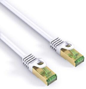 mumbi 20m CAT7 CAT.7 Rohkabel S/FTP Ethernet Lan Patch Netzwerk Kabel weiss