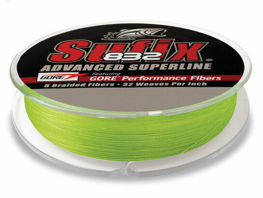 Suffix 832 Fishing Line Braid 30 LB 150 Yds Neon Lime Sufix Superline for sale online