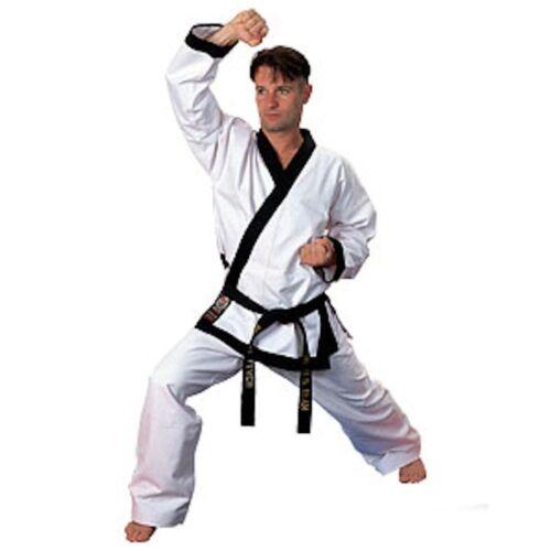 Black Trim Traditional Drawstring ProForce 14 oz Tang Soo Do Master Uniform